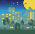 Environmentally symbols of urban lifestyles vector illustration Royalty Free Stock Image