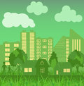 Environmentally symbols of urban lifestyles vector illustration Stock Images