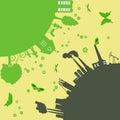 Environmentally symbols of urban lifestyles vector illustration Stock Photo