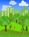 Environmentally symbols of urban lifestyles vector illustration Royalty Free Stock Photo
