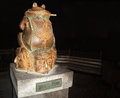 Envy vice monument greed toad which strangles berdyansk city ukraine Royalty Free Stock Images