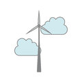 Eolic wind turbine Royalty Free Stock Photo