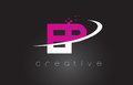 EP E P Creative Letters Design With White Pink Colors