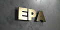 Epa - Gold sign mounted on glossy marble wall - 3D rendered royalty free stock illustration