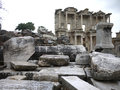 Ephesus ancient greek ruins in anatolia turkey Royalty Free Stock Photo