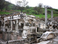 Ephesus ancient greek ruins in anatolia turkey Stock Photo