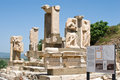 Ephesus ancient greek ruins izmir turkey with blue sky Stock Photography