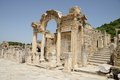 Ephesus ancient temple of hadrian arched doorway turkey Stock Photography