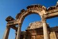 Ephesus hadrian寺庙火鸡 免版税库存图片