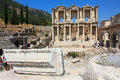 Ephesus and the library of celsus famous archeological site ancient in turkey its main highlight Royalty Free Stock Image