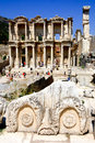 Ephesus and the library of celsus famous archeological site ancient in turkey its main highlight Royalty Free Stock Photo