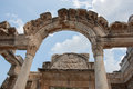 Ephesus the remains of one of the ancient buildings of in turkey Royalty Free Stock Photography
