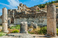 Ephesus ruins turkey ancient greek in anatolia Royalty Free Stock Photos