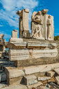 Ephesus ruins turkey ancient greek in anatolia Royalty Free Stock Image