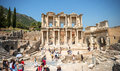EPHESUS, TURKEY - AUG 01: visitors in Curetes street on August 0