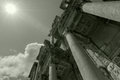 Ephesus turkey black white ruins of celsus library in ancient greek city and Royalty Free Stock Photography