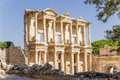 Ephesus turkey the facade of the celsus library years was an ancient greek city on coast ionia three kilometres southwest present Royalty Free Stock Images
