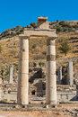 Ephesus turkey remains of the prytaneum temple at ancient roman city ruins in Stock Photography