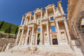 Ephesus turkey side view of the celsus library in Stock Images