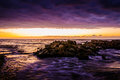 Epic Afterglow Sunset Royalty Free Stock Photo