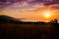 Epic Pastoral Seascape Sunset Royalty Free Stock Photo