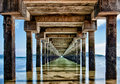 Epic pier jetty in rawai phuket thailand a long located photographed hdr Royalty Free Stock Images