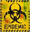Epidemic alert sign virus vector illustration Stock Photos
