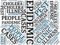 EPIDEMIC - image with words associated with the topic EPIDEMIC, word cloud, cube, letter, image, illustration