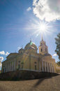 Epiphany Cathedral in Nilov Monastery on the lake Seliger, Tver region. Royalty Free Stock Photo