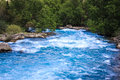 Eponymous river flows out of lake iskander Stock Photography