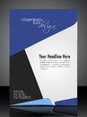 EPS 10 Professional Corporate Flyer Design Royalty Free Stock Image