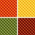 +EPS Ernte-Farben Kreuz-spinnen Gingham Lizenzfreie Stockbilder