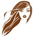 Eps fashion beautiful woman with long wavy hair vector Royalty Free Stock Photography