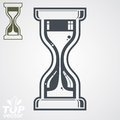 Eps highly detailed vector sand glass illustration includes ad additional version antique classic hourglass retro clock silhouette Royalty Free Stock Photography