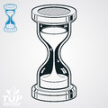 Eps highly detailed vector sand glass illustration includes ad additional version antique classic hourglass retro clock silhouette Stock Photo