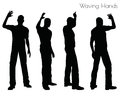 EPS 10 illustration of a man in Waving Hands pose on white background Royalty Free Stock Photo