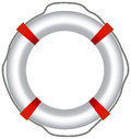 Eps vector of red life buoy isolated on white background Stock Photos