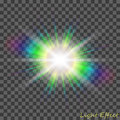 Eps10.Vector transparent sunlight special lens flare light effect.
