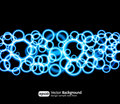Eps10 bright light effects blue background Stock Photography