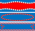 EPS8 Vector 3 Red White Blue Star Striped Backgrou Royalty Free Stock Photo