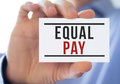 Equal pay Royalty Free Stock Photo