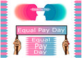 Equal pay day Royalty Free Stock Photo