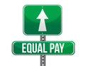 Equal pay road sign illustration design over white Royalty Free Stock Image