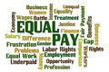 Equal pay word cloud on white background Stock Image
