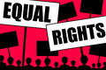 Equal rights for all people regardless of gender race and age Royalty Free Stock Photo