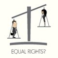 Equal rights vector illustration of the Royalty Free Stock Photography