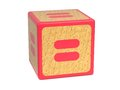 Equal Sign - Childrens Alphabet Block. Royalty Free Stock Photo