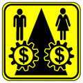 Equal work equal payment concept sign for pay for especially for women Royalty Free Stock Images