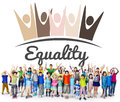 Equality Fairness Fundamental Rights Racist Discrimination Conce Royalty Free Stock Photo