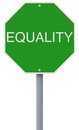 Equality a modified stop sign on Royalty Free Stock Images